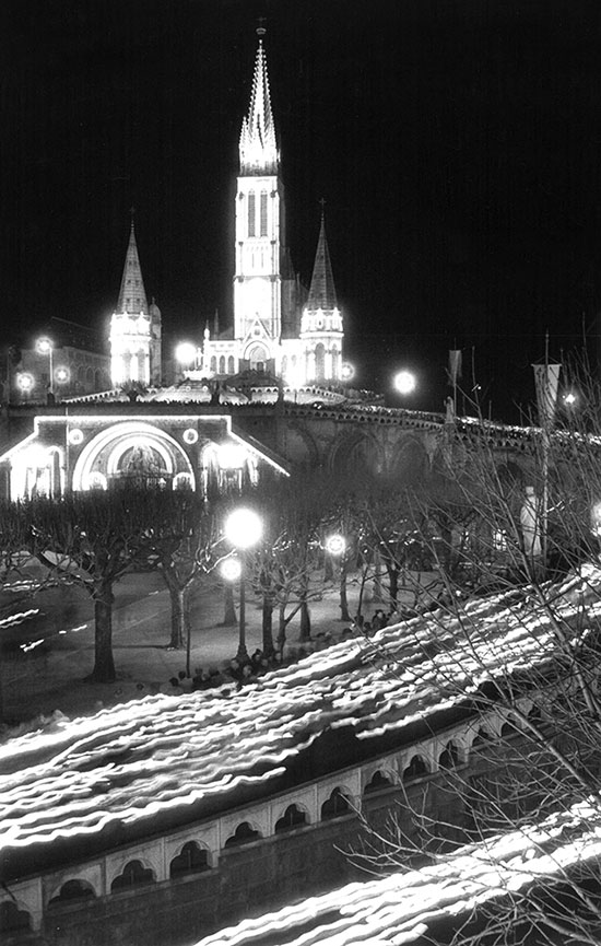 Candlelit procession at the Centenary at Lourdes, France – 1958