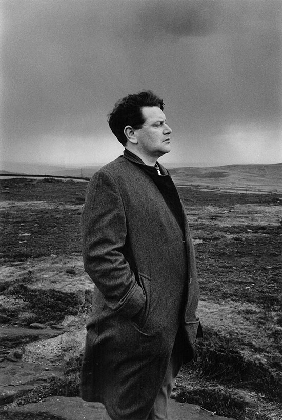 John Braine, writer, Ilkley Moor, UK – 1958