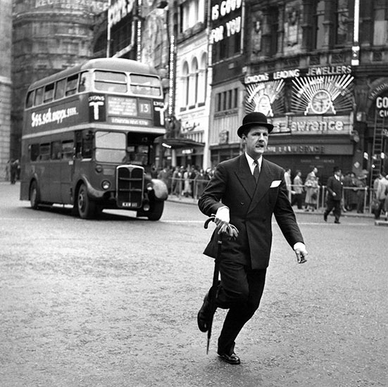 Man in Piccadilly Circus, London – c.1955
