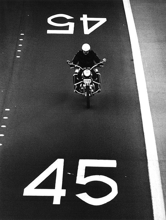 Motorcyclist, Warringah Expressway, Sydney – 1971