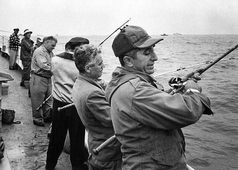 New Yorkers fishing – 1956