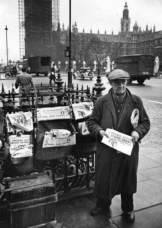 Paper seller, London – c.1956