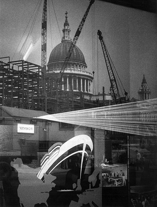 St Paul's Cathedral and reflections – c.1956