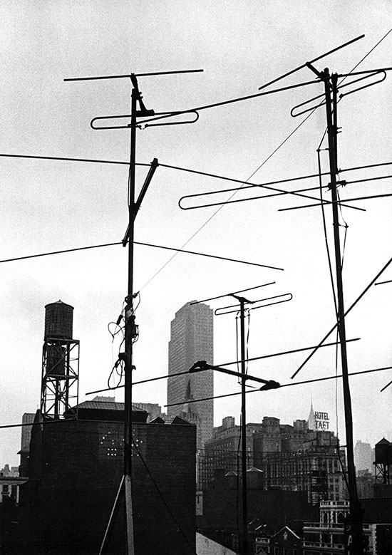 TV aerials, New York, USA – 1956