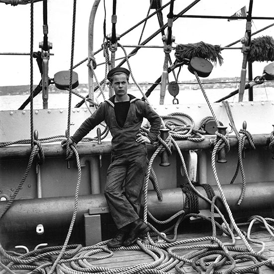 Tall ship sailor, Torbay, UK – c.1954
