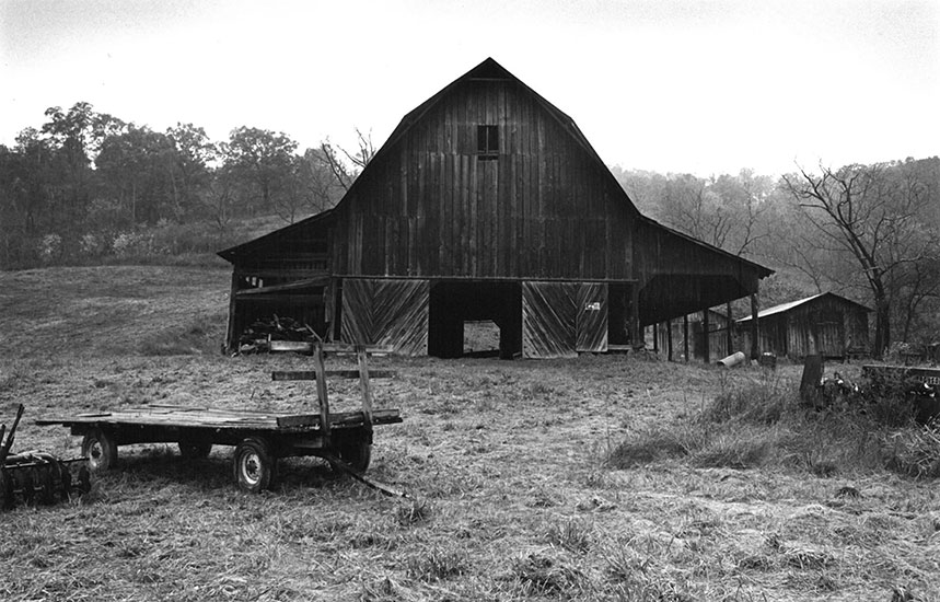 Tobacco barn, West Virginia – 1973