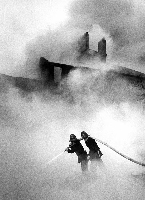 Fire at a London rubber dump – c.1956