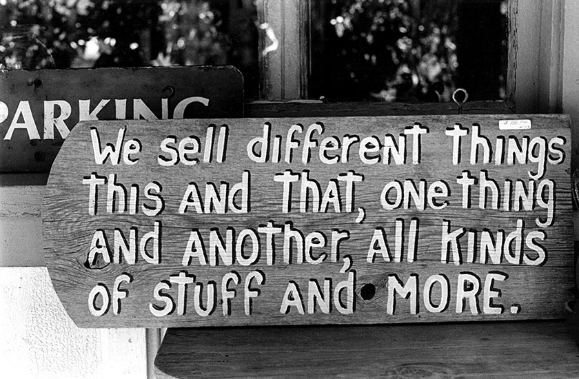 We sell different things – 1999